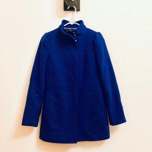 Banana Republic Wool Blue Cocoon Coat Size 2